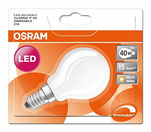 Osram Retrofit Classic P Dimmable – Lámpara LED, E14, color blanco