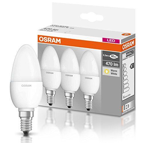 OSRAM LED BASE CLASSIC B – Lámpara, forma mini vela clásica, con