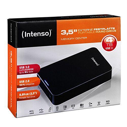 """Intenso Memory Center - Disco duro externo de 4 TB (3.5"""", 12 V, USB"""