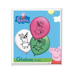 Peppa Pig – 8 globos (Verbetena 016000778) Peppa Pig - Juguetes