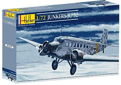 Heller – 80380 – Maqueta para construir – Junker Ju 52 – 1/72