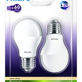 Philips 929000220661 – Pack de 2 bombillas LED estándar mate, 60W,