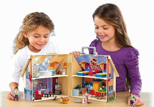 Playmobil – Casa de muñecas en forma de maletín, set de juego (5167)