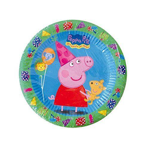 Peppa Pig – Set de 8 platos, 18 cm (Verbetena 5652221)