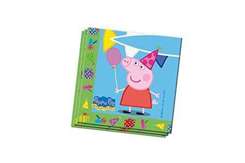 Peppa Pig - Set de 20 servilletas, 33 x 33 cm (Verbetena 5652224)