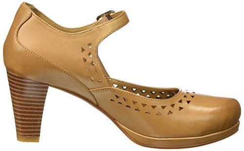 Clarks Chorus Chime, Atado Al Tobillo para Mujer, Marrón (Light Tan Lea), 37.5 EU