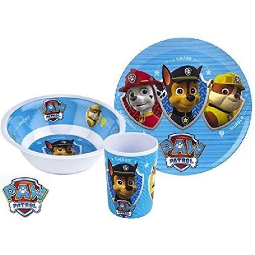 Patrulla Canina – Vajilla con 3 piezas, color azul (Tinokou Creations La Patrulla Canina