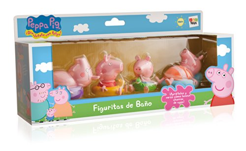 IMC TOYS 715098 – Figuritas para el baño Peppa Pig (4 figuras, surtido)