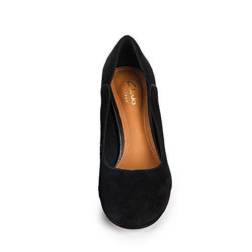 Clarks Chorus Nights - zapatos de tacón cerrados de cuero mujer, color negro, talla 38