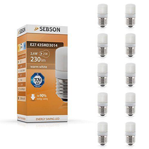 Sebson  – ® 10 X 2.6W E27 Bombilla Led (Pari A 25W), 230 Lumen,
