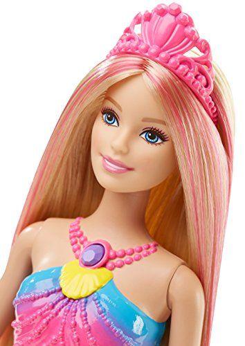 Barbie – Muñeca, sirena luces de arcoíris (Mattel DHC40)
