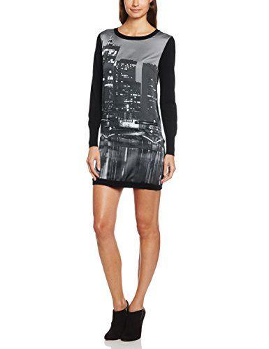 Derhy - Vestido de manga larga para mujer