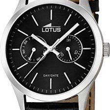 Lotus 15956/3 – Reloj de cuarzo para hombre, correa de cuero color Relojes