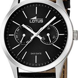 Lotus 15956/3 - Reloj de cuarzo para hombre, correa de cuero color