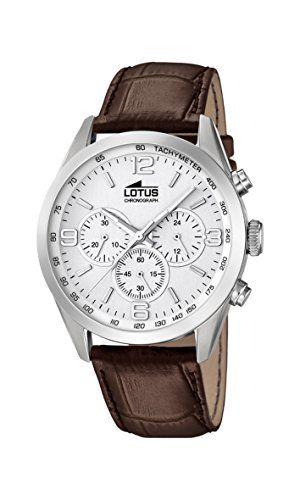 Lotus 18155/1 – Reloj de pulsera hombre, Cuero, color Marrón Relojes