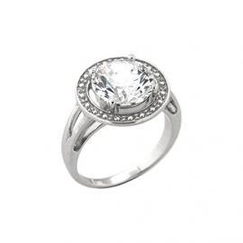 Bijoux pour tous anillos Mujer plata Plata de ley (925/1000) circón