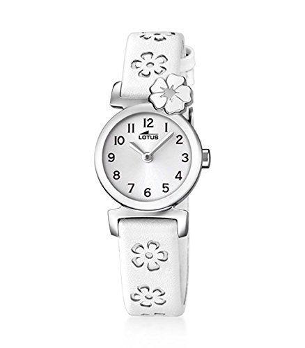 Lotus 18174/1 – Reloj de niña de cuarzo, correa blanca. Ideal Relojes