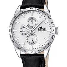 Lotus 18219/1 – Reloj de pulsera hombre, Cuero, color Negro Relojes