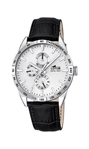 Lotus 18219/1 - Reloj de pulsera hombre, Cuero, color Negro