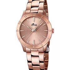 Reloj de pulsera de cuarzo de las mujeres con diseño de flor de loto Relojes