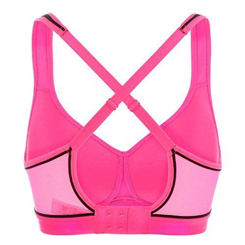 La Isla - Sujetador Deportivo de Sin Aros Para Mujer Hot Pink 95C