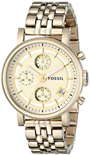 Fossil ES2197 - Reloj analógico de cuarzo para mujer con correa de
