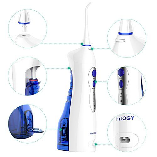 Hylogy Oral Irrigator, Rechargeable Dental Water Flosser con Alta