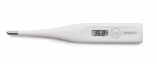 Omron Eco Temp Basic – Termómetro oral, axilar y rectal, color blanco Omron