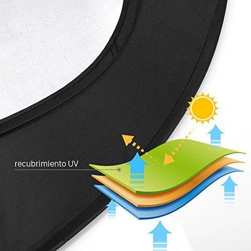 GHB Parasol Plegable para Coche Parabrisas Anti Rayos UV 6 pcs