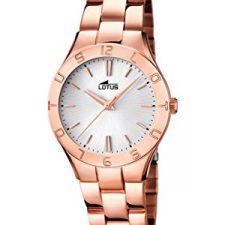 Lotus  0 – Reloj de cuarzo para mujer, con correa de acero inoxidable, Relojes
