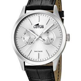 Lotus  15956/1 - Reloj de cuarzo para hombre, con correa de cuero,