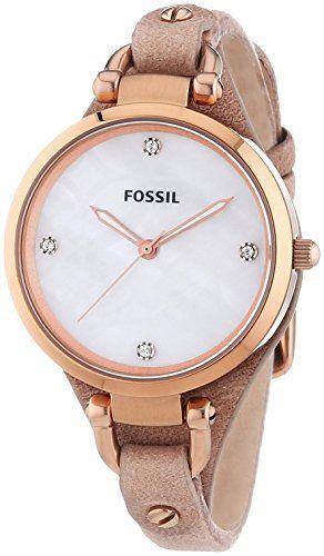Fossil Georgia ES3151 - Reloj analógico de cuarzo para mujer, correa