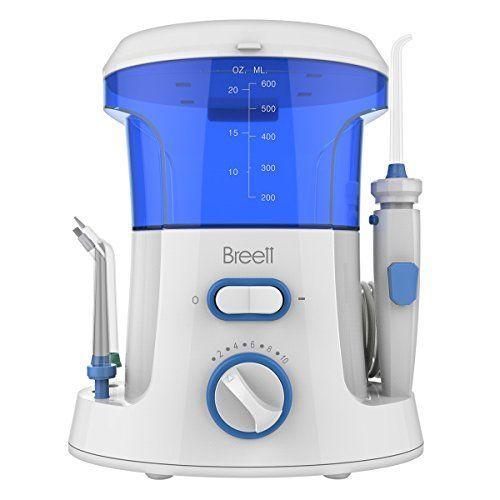Breett Irrigador Dental Electrónico Familiar con Tanque de Agua de