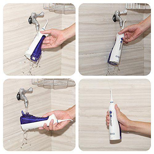 GHB Irrigador Dental Portátil e Impermeable para la Limpieza de los