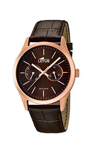 Lotus 15958/2 – Reloj de pulsera hombre, Cuero, color Marrón