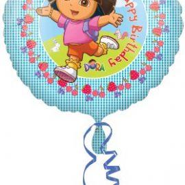 Amscan – Dora la Exploradora Globos Hoja Happy Birthday (no inflado)