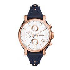 Fossil ES3838 – Reloj de cuarzo con correa de cuero para mujer, color Relojes Fossil