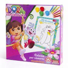 Nickelodeon – Dora La Exploradora, colorea por números (Dinova Juguetes Dora la Exploradora