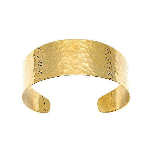 Bijoux pour tous - Pulsera de bañado en oro (5.5 cm)