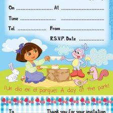 Dora la Exploradora Invitaciones (Paquete 20) Juguetes Dora la Exploradora