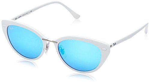 Ray Ban MOD 4250 SUN, Gafas de Sol para Mujer, Shiny White, 52