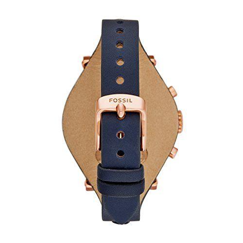 Fossil ES3838 - Reloj de cuarzo con correa de cuero para mujer, color