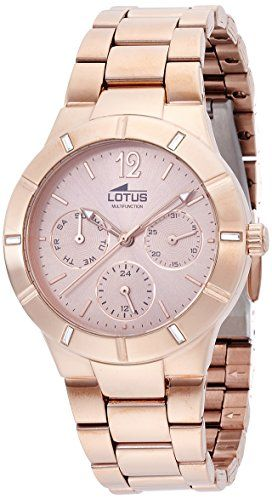 Lotus 15915/2 - Reloj de pulsera Mujer, Acero inoxidable, color Oro
