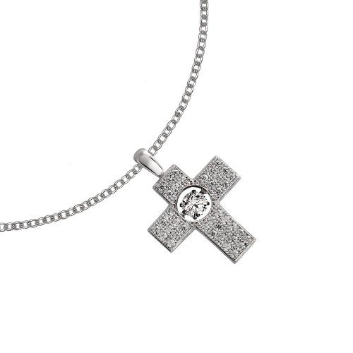 Diamonfire Pavé - Collar de plata de ley con circonita