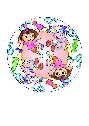 "Dora la Exploradora – Mándala Designer ""Happy Birthday"" (Ravensburger"