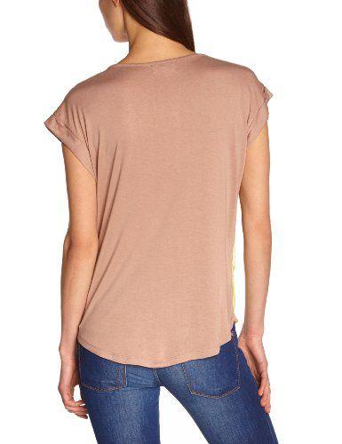 Derhy S330048 - Camiseta, con manga corta, con cuello redondo para