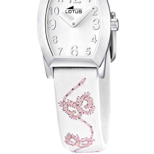 Lotus 15710/1 - Reloj analógico infantil de cuarzo con correa de piel