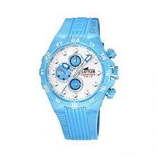Lotus 15730/H – Reloj para hombre con correa de goma, color blanco / Relojes
