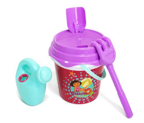 Dora la Exploradora – Cubo de 21 cm con red (Saica Toys 8180) Juguetes Dora la Exploradora