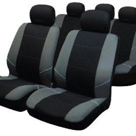Sakura BY0802 - Juego de fundas para asientos de coche, color plateado